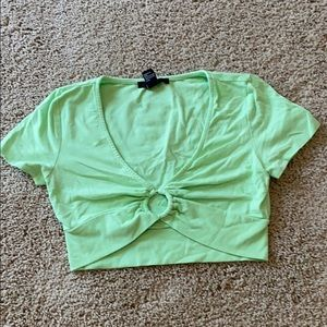 Forever 21 like green ring crop top